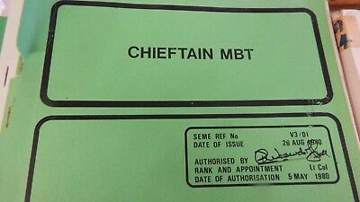 CHIEFTAIN MBT,ex REME classroom book, 111 pages.