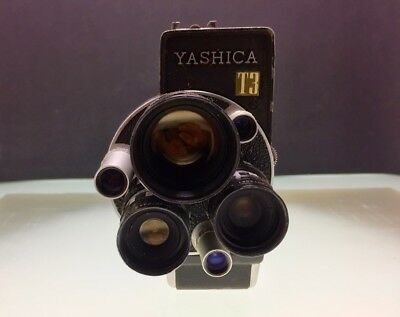 Yashica T3 Tri Lense Model 62107 F38mm F13mm F6.5mm Cine Camera carrying case