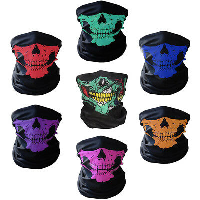 Halloween Scary Mask Festival Skull Skeleton Outdoor Motorcycle Bicycle Masks
