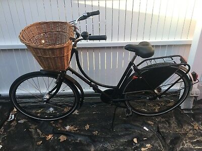 dutch bicycle with cane basket