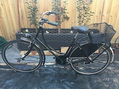dutch bicycle with wire basket