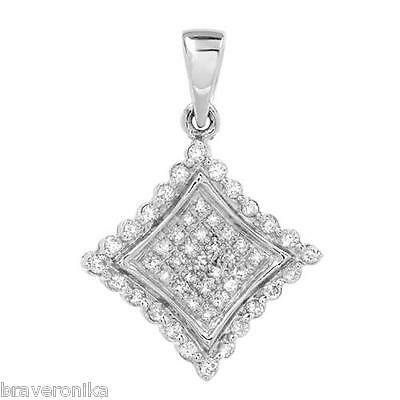 Majestic 10K White Gold Pendant With 0.25Ctw Clean Diamonds. Brand New