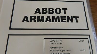 ABBOT armament,ex REME classroom book,80 pages