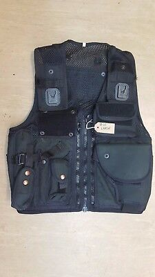 Original Ex Police Arktis Tactical Black Speed Cuffs Baton Taser Vest Large #10