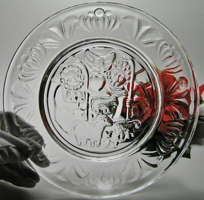 Signed ORREFORS CRYSTAL Limited Edition 1974 CHRISTMAS PLATE ~ LARS HELLSTEN #2