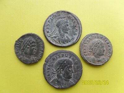Group Of Four Roman Coins