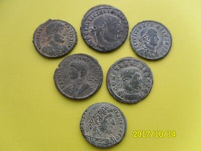 Group Of Six Roman Coins