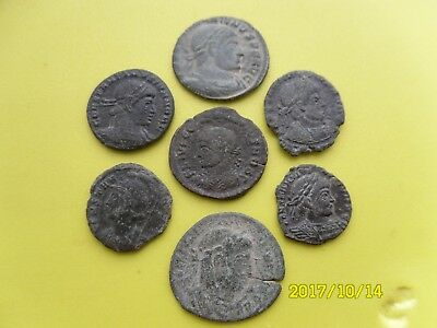 Group Of Seven Roman Coins