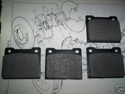 NEW QUALITY FRONT BRAKE PADS VAUXHALL VICTOR FC101 AND VX 4//90