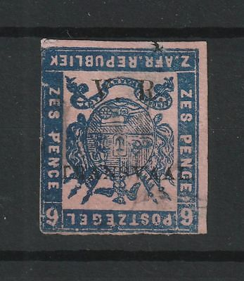 Transvaal 1877 SG # 88a INVERTED ovpt (defect & thin) signed expert SCHLE
