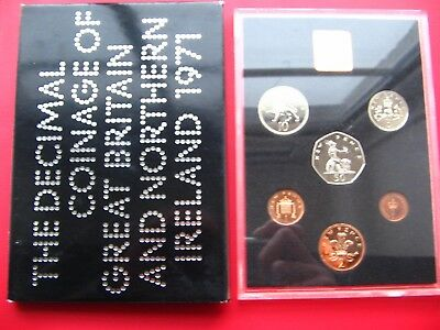 1971 Proof Set Of Decimal Coinage Of Great Britain & Northern Ireland
