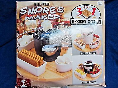 Roshco Indoor/outdoor S'mores Maker - 3 In 1 Dessert Station - Never Used