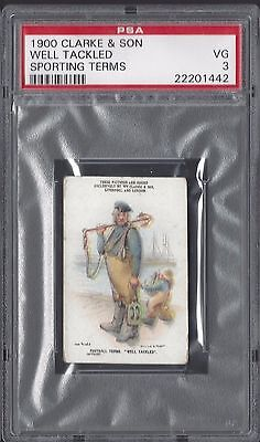 1900 Clarke & Son - Well Tackled - Sporting Terms - Psa 3