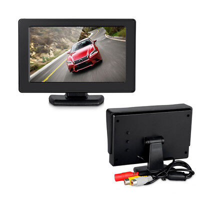 4.3'' Color TFT LCD 2-Channel Video Input Rear View Monitor Vehicle Auto Car Rea