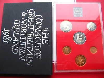 1981 Proof Set Of Decimal Coinage Of Great Britain & Northern Ireland
