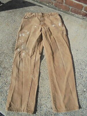 Men's DICKIES Vintage Workwear carpenter Painters Pants with Paint and Wear