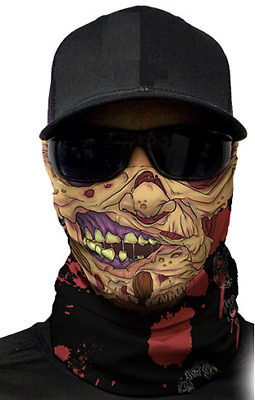 MOTORCYCLE FACE MASK - ZOMBIE - (Moto, Hunting, Fishing, Paintball)