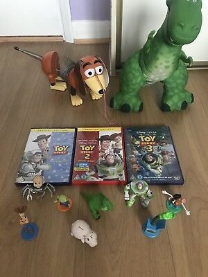 Disney Toy Story Bundle Kids Toys Buzz Woody Figures Children's Toys + DVD Set