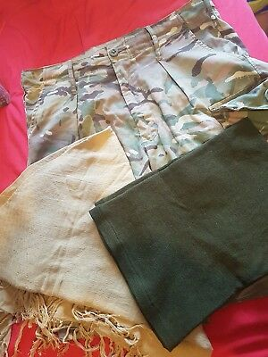 army bundle  shorts / shemagh / neck roll