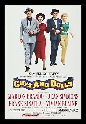 GUYS AND DOLLS * CineMasterpieces 1SH ORIGINAL MOVIE POSTER 1955