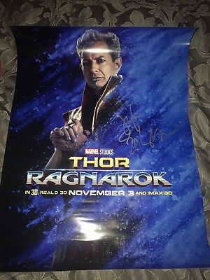 *Signed* THOR RAGNAROK poster - Autographed By JEFF GOLDBLOOM - 100% AUTHENTIC!