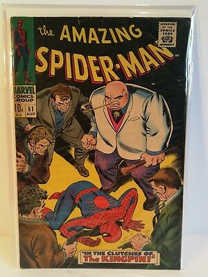 Amazing Spiderman 51. Vg. Rare UK price variant