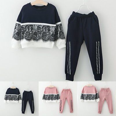 2PCS Toddler Baby Girls Clothes Warm Hooded Shirt Tops+Long Pants Outfits Set