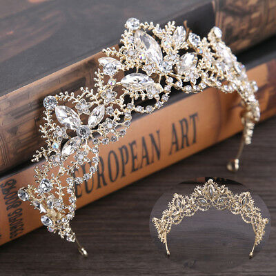 Baroque Princess Wedding Crown Prom Bride Tiara Coronet Hair Accessory Hairband