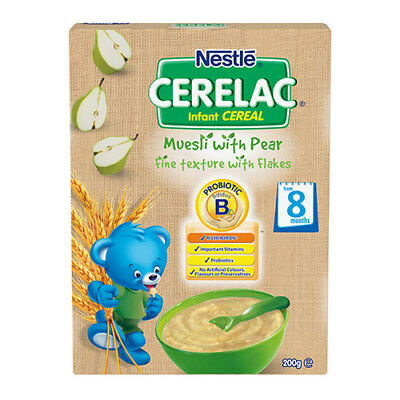 NEW Nestle Baby Food Cerelac Infant Cereal Multigrain w/Pear From 6 Months 200g