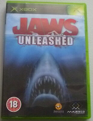 XBOX GAME: ***JAWS UNLEASHED*** Good Condition: Complete with Manual, PAL