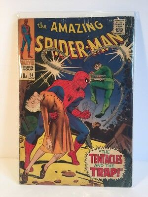 MARVEL Comics  FN- SPIDERMAN SILVER age #54  DR OCTPOUS 1968 VG+