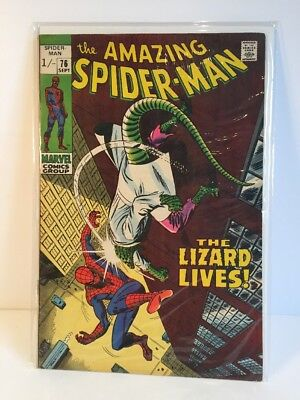 The Amazing Spiderman - No 76 1969 -  The Lizard and The Human Torch! vg+