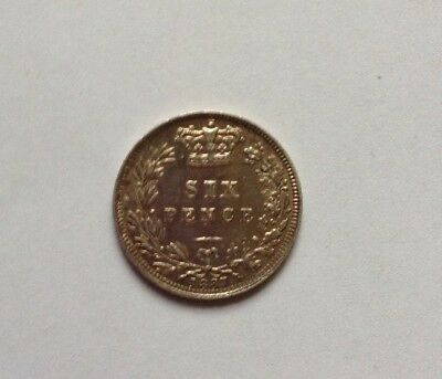 1887 Victoria Sixpence Young Head