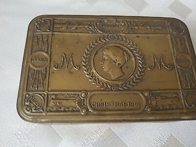 Ww1 princess mary christmas tin with card and bullet