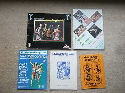 programme international athletics europa cup 1981 in finland inc great britain