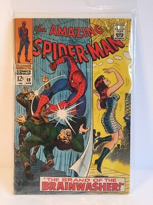 Amazing Spider-Man #59 First Mary Jane Watson Cover, 1968, Marvel, Stan Lee