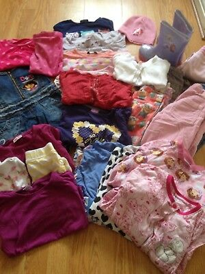 Huge bundle of girls clothes age 4-5 years / 5 years Inc Wellies , NEXT Tops , e