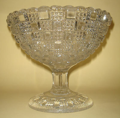 Depression Glass Sweet Compote Davidson England no.506 Lion Trademark 1880-90