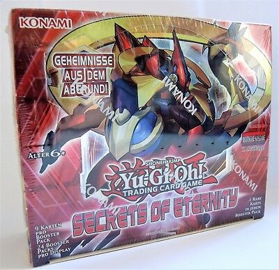 YuGiOh! 1 Display SEGRETS OF ETERNITY Neu & OVP 24 Booster Packs 1. Auflage SECE