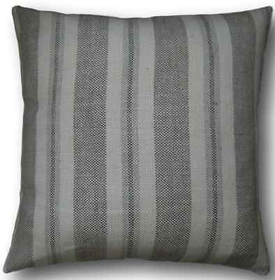 """Cushion Cover Handmade With Laura Ashley's Brampton Dove Grey 20"""" Striped Pillow"""