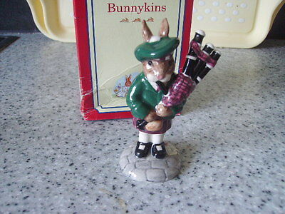 Royal Doulton Bunnykins Piper Db191 Mint Condition Limited Edition Of 3000