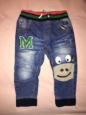 Next Baby Boy Monkey Jeans 12-18 Months