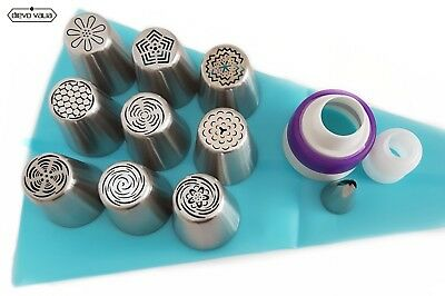 22 pc Russian Piping flower tips- set of 9 nozzles for cupcake/cake decorating