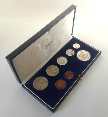 South Africa Proof Coin Set 1984 as Issued by the S A Mint in Original Box #CIM