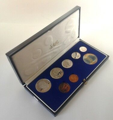South Africa Proof Coin Set 1985 as Issued by the S A Mint in Original Box #CIM