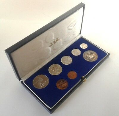 South Africa Proof Coin Set 1986 as Issued by the S A Mint in Original Box #CIM