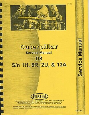 Caterpillar D8 1H, 8R, 2U, 13A (Chassis only) repair manual photocopy