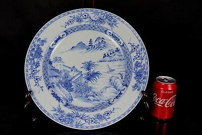 (A) Superb Huge Chinese Kangxi Period 1662-1722 Landscape Charger Dish