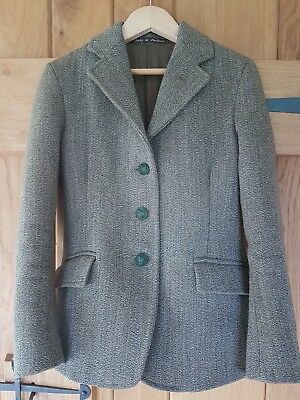Childs Foxley Heavyweight Keepers Tweed Hunting Hacking Riding Jacket Size 26