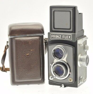 PrinzFlez TLR vintage camera 6x6 on 120 film, with Case - Low serial number